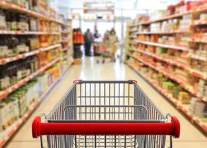 Image showing empty shopping aisle